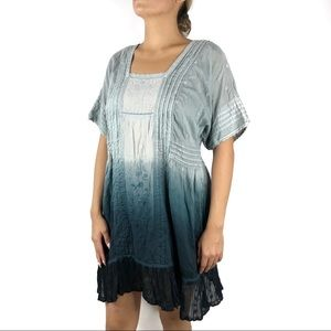 Anthro Holding Horses Ocean Dipped Tunic Dress